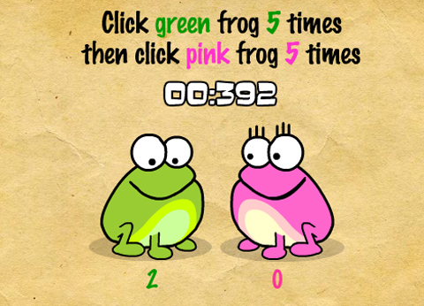 Klick den Frosch